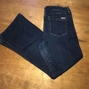 Excellent WHBM 10S flare jeans darkwash